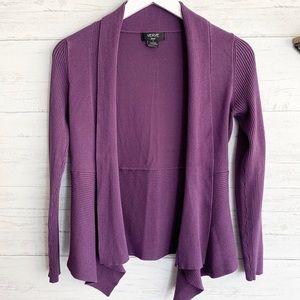 Verve Purple Open Cardigan